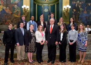 4-16-13_Widener_University_students with Senator Pileggi